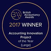 BAA2017 - BAA winner badge - Accounting innovation - Small