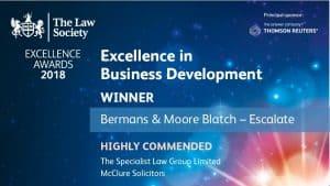 Law Society Excellence Awards 2018 - Escalate award